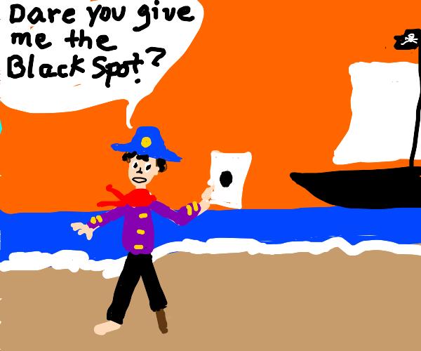 Pirate ship at shore