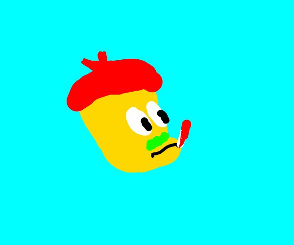 sick simpson in red hat
