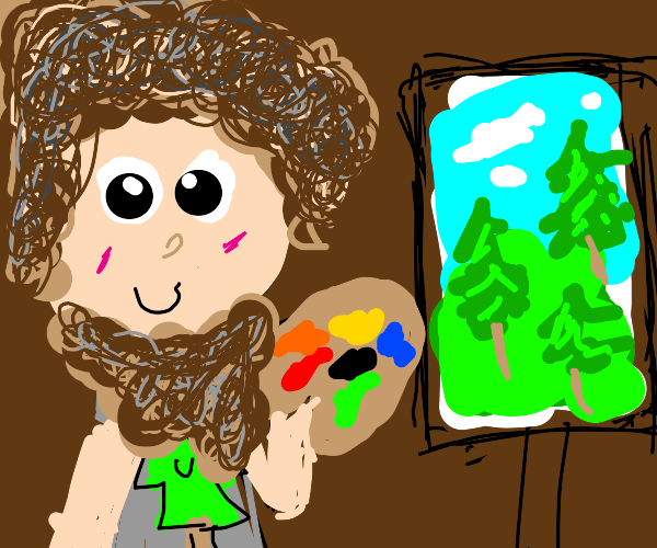 Bob Ross paints