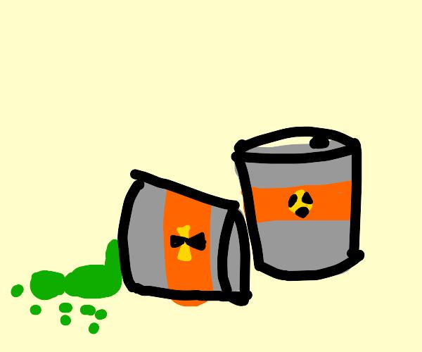 Green Chemical spills Over