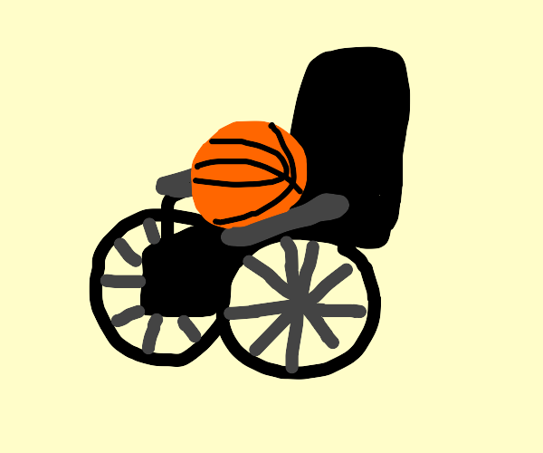 basket ball in a weel chair