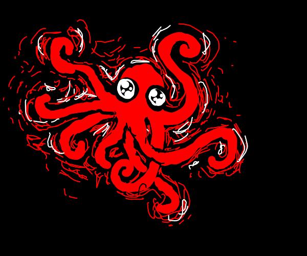 Glow in the dark octopus