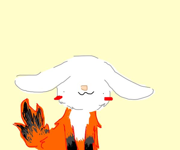 fox with rabbit head - derpy
