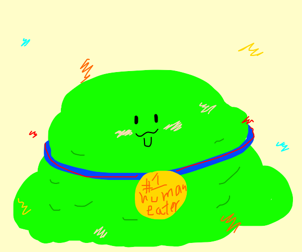 goo monster won human eating contest