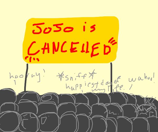 World celebrates as JoJo is cancelled