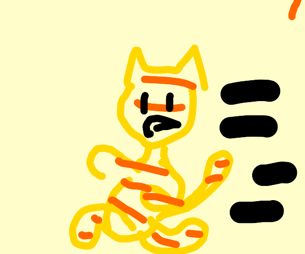 Garfield Running Drawception