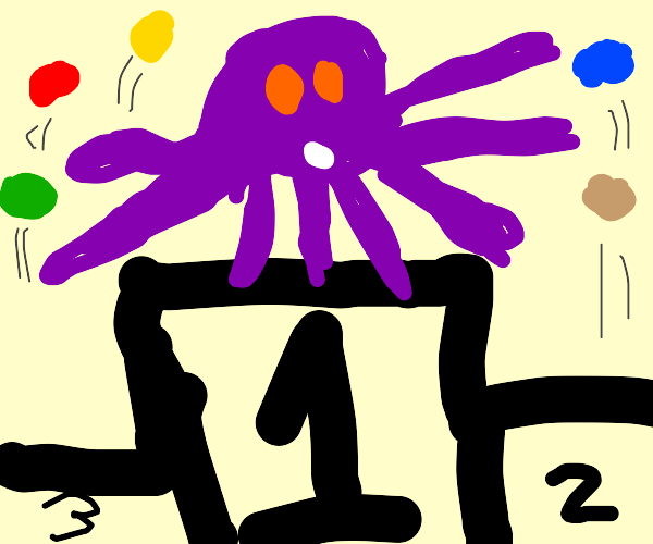 octopus wins race to juggling contest