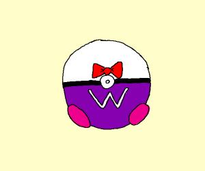 upsidedown masterball wearing tuxedo