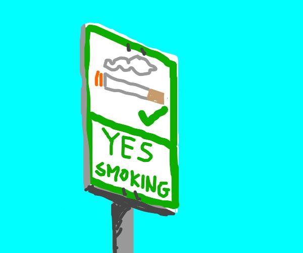 Yes smoking