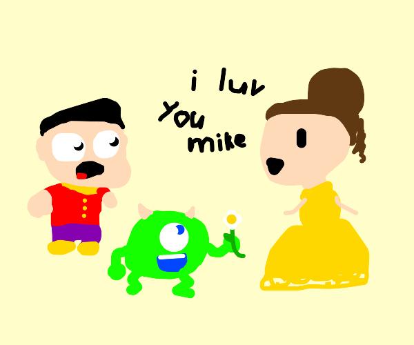 Gaston can't believe Belle likes MikeWazowski