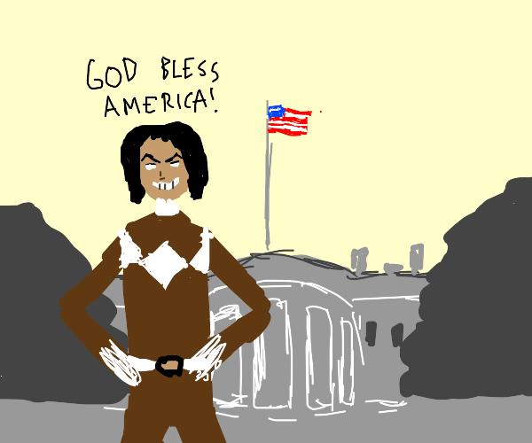 Michelle Obama as a power ranger