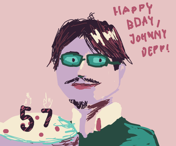 Johnny Depp gets a birthday cake