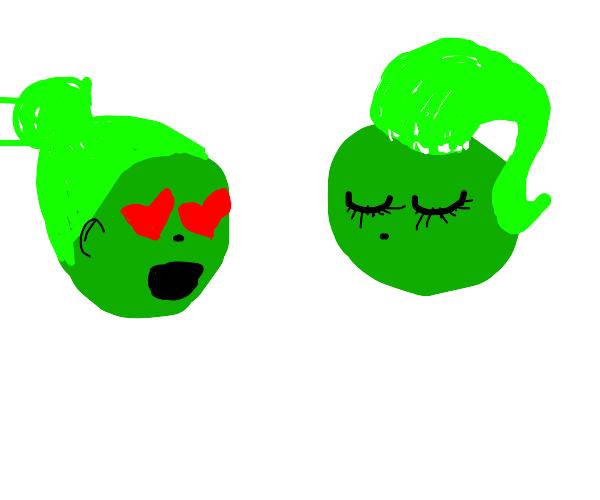 GreenBall likes Other Green Ball's new hairdo