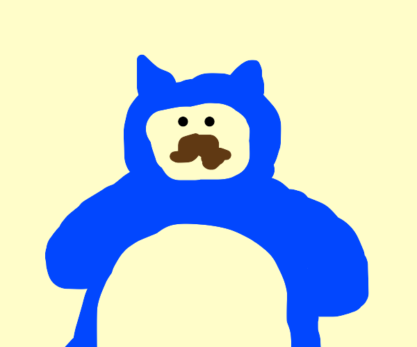 Snorlax with a moustache