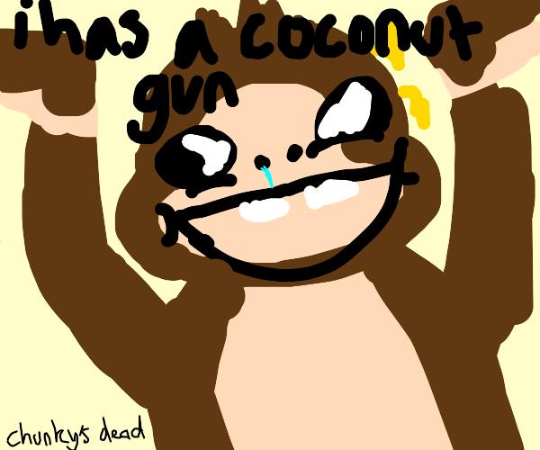 DonkeyKong tells you that he has a CoconutGun