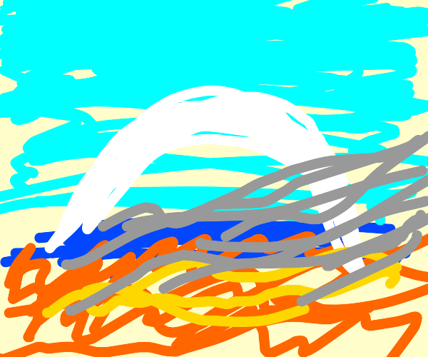 White Rainbow on the fire beach