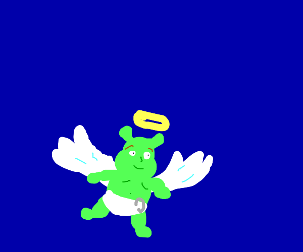 Angel baby shrek