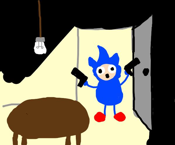 Sonic the hedgehog invades a home