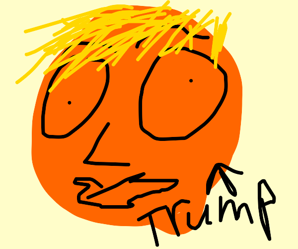 donald trump holding the earth in space