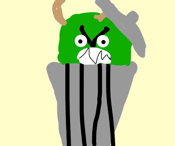 Angry trash goblin