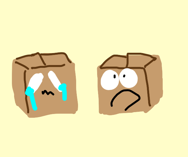 box one is sad and box two is shocked