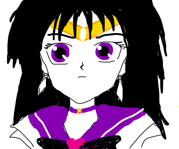 Character from Sailor moon w/ short black hai