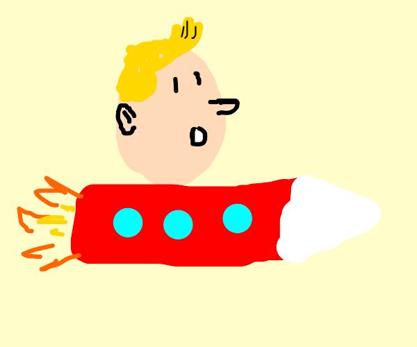tintin rocketship