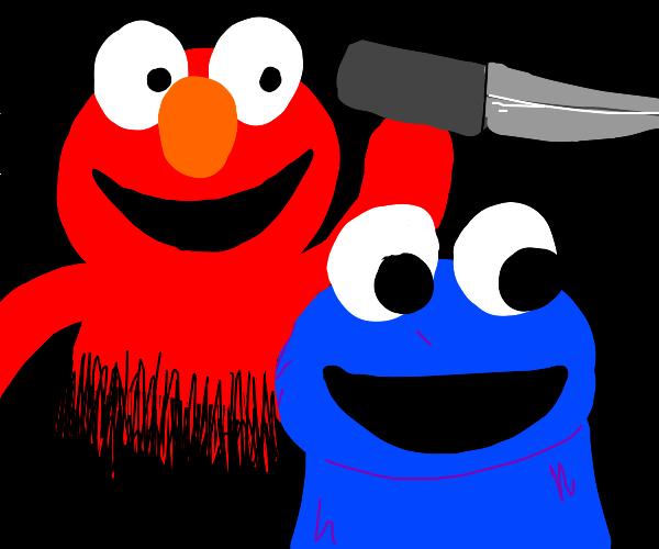 Elmo murders Cookie Monster