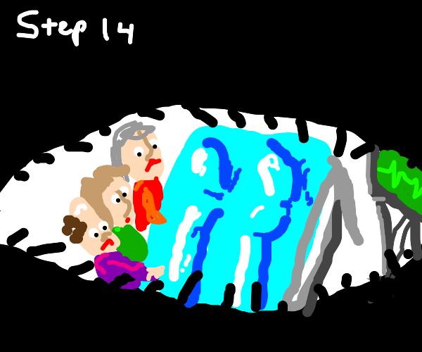 step13: go to hospital 'cuz of food poisoning
