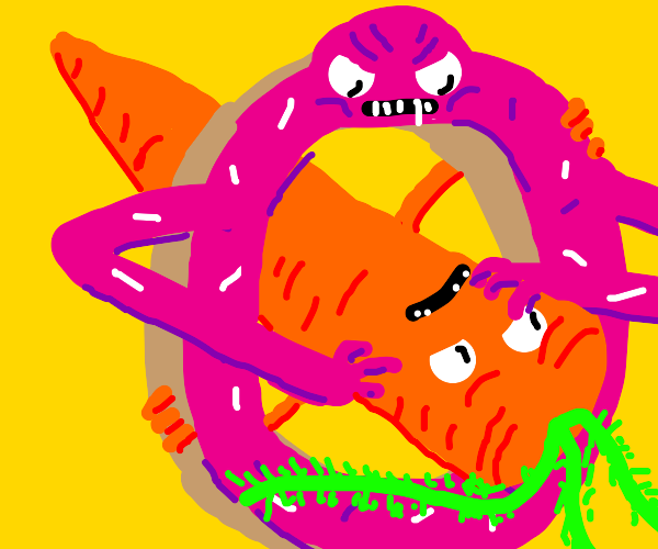 Angry Donut vs carrot