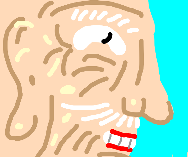 Close up of old man