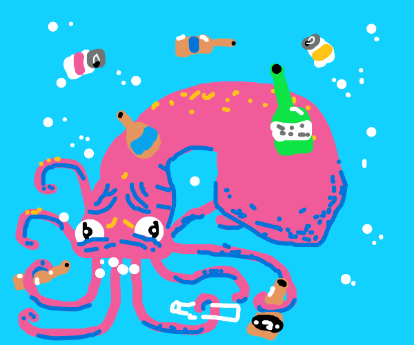 octopus drinkin to forget