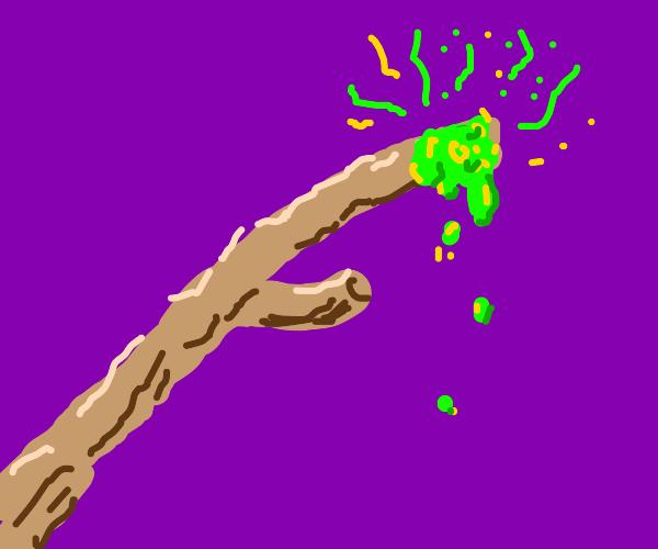 Toxic waste on a stick