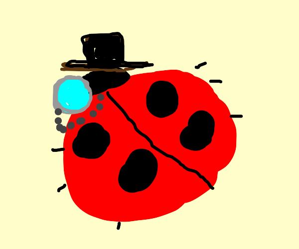 Ladybug with top hat and monacle