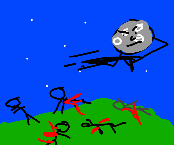 The Moon goes on a shooting rampage