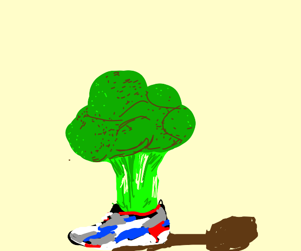 Broccoli wearing Shoes