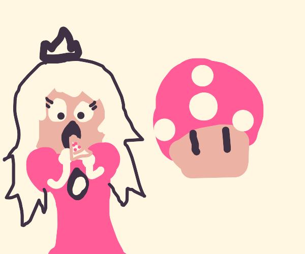 Princess peach eats pizza