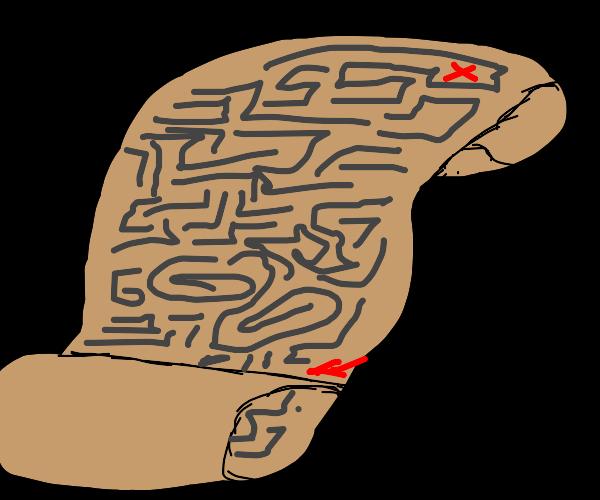 A maze on paper