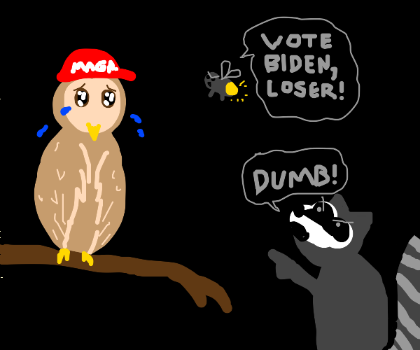 MAGA owl is being verbally bullied