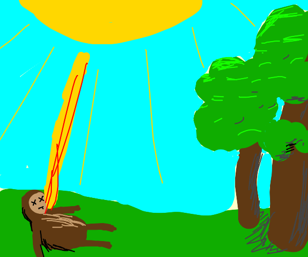 monkey dying from the sun