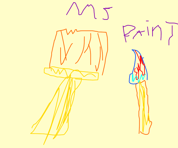 A drawing made in Microsoft Paint