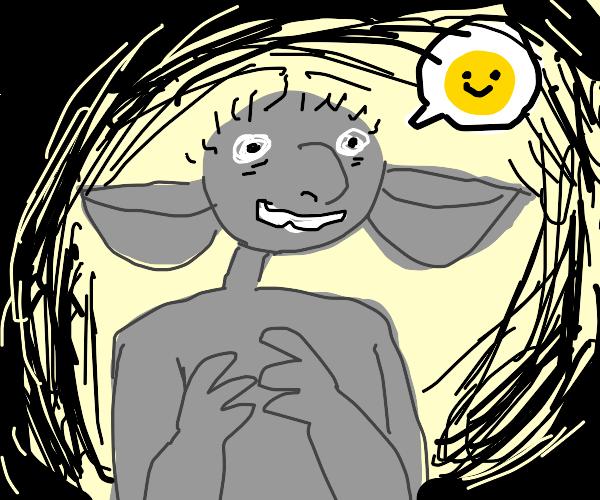 grey goblin feels splendid (creepy)