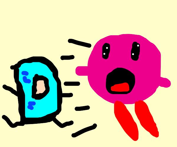 Kirby inhales Drawception D