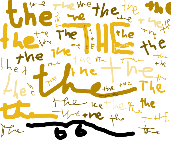 """The word """"the"""" written 66 times"""