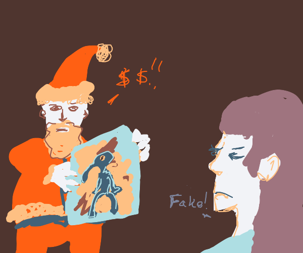 Jolly Redd tried to sell you a Fake Painting