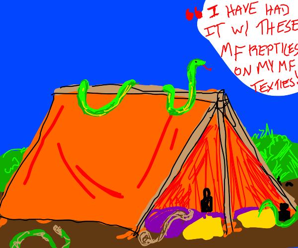 Samuel L Jackson: Snakes on Roof