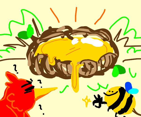 Honey in a Nest