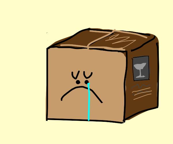 Sad box friend