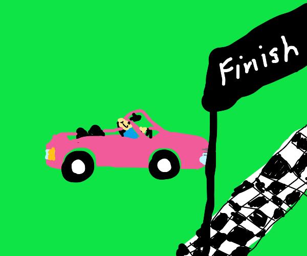 Racing pink Convertible