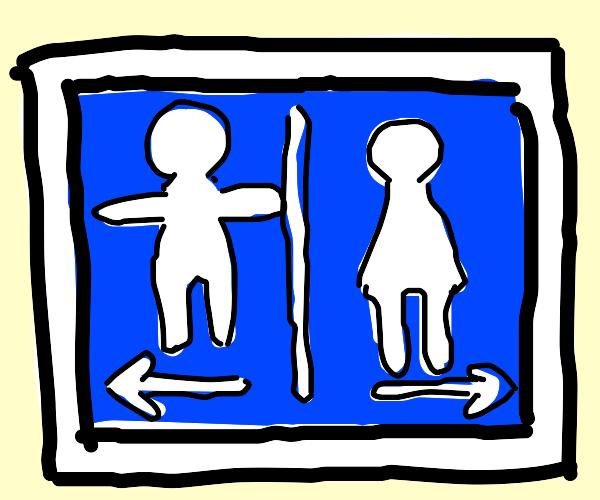 tposing men's bathroom symbol